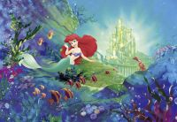 Giant Wall mural Wallpaper MERMAID Ariel's Castle disney ...